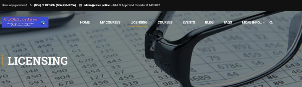 NMLS Licensing Edcuation